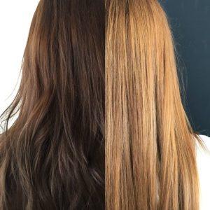 Нужно смывать краску от волос